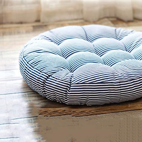 Z IMEI Cojín de silla de rayas gruesas, algodón y lino, cojín de suelo, cojín de suelo, cojines de tatami