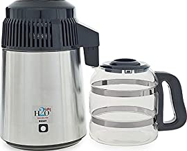 230 Volt Stainless Steel Water Distiller with Best Quality Glass Carafe - with European Plug, (Not to use in North America)