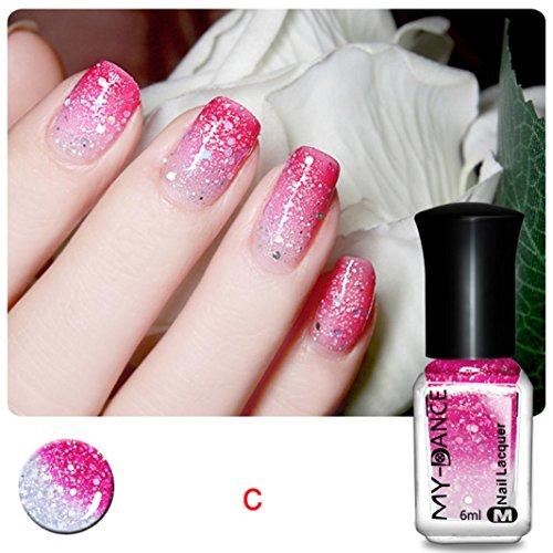 Chameleon Nail Polish, Leewa@ 6ML Temperature Color Changing Nail Polish (S)