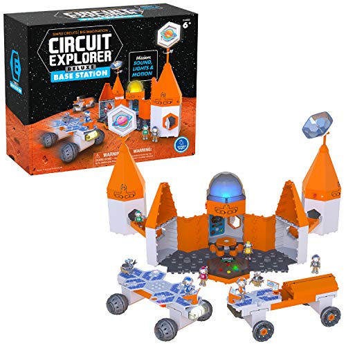 Circuit Explorer Deluxe Base Station, Building Set & Beginner Circuit Building, STEM Toy, Perfect...