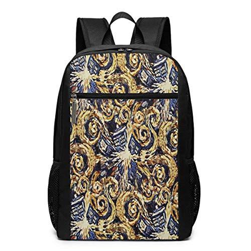 TRFashion Rucksack Octor Who Exploding Tardis 17 Inch College Laptop Notebook Bag Backpack Schoolbag Book Bag for Men Women Black