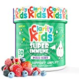 Clarity Kids Immune Support (Elderberry, Vitamin C, Probiotics & Zinc for Kids) Chewables - 30 Pieces, Black Elderberry Extract & Vitamins for Kids Immune Support, Immune Support for Kids