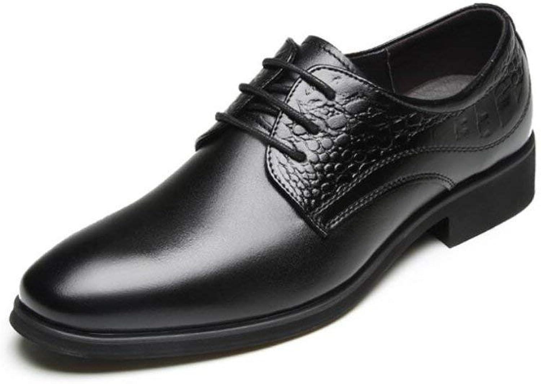 Herren Spitze Zehenschuhe, Leder-Business-Schuhe, Frühling Herbst-Komfort Mode Schwarz Braun Party & Abend Formale Schuhe Lederschuhe,schwarz,43 (Farbe   Wie Gezeigt, Gre   Einheitsgre)