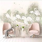 Weaeo Custom 3D Mural Wallpaper Flamingo Mural Wallpaper Para Sala De Estar Cocina Decoración Restaurante Wallpaper Envío Gratis Dormitorio-150X120Cm