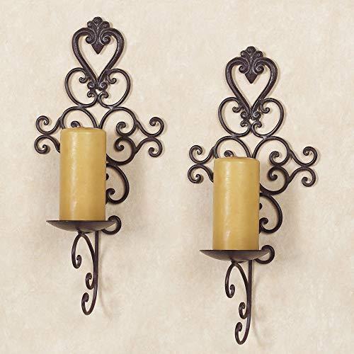 Aldabella Tuscany Slate Wall Candleholder Pair Tuscan Slate Pair