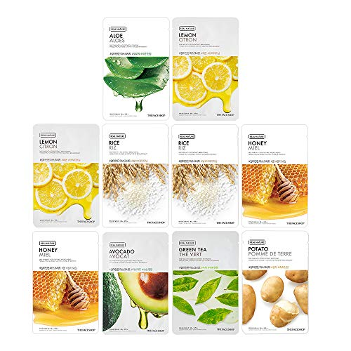 The Face Shop Real Nature Glowing Bride Mask Sheet Combo (200 g) - Pack of 10