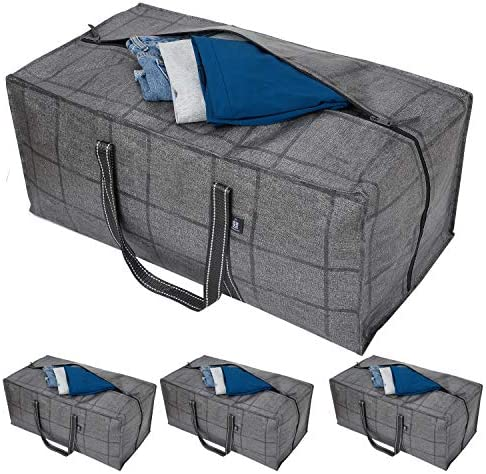 VENO Heavy Duty Extra Large Storage Bag Moving Bag Tote 4 Pack Clothes Organizer For Blanket product image