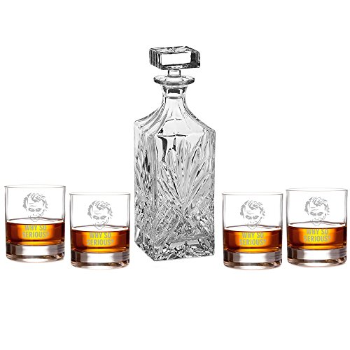 Joker - Why So Serious? Engraved Decanter Set with Rocks Glasses