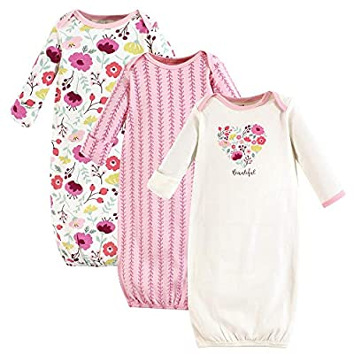 Touched by Nature Unisex Baby Organic Cotton Gowns, Botanical, 0-6 Months US by Touched by Nature