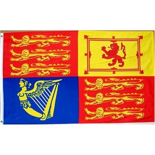 3/' x 2/' UK Royal Standard Flag Queen Elizabeth ll British Royalty Banner