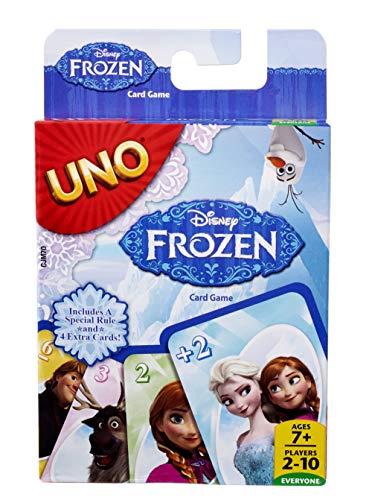 Mattel Games CJM70 UNO Frozen Die Eiskönigin Kartenspiel für Kinder, geeignet für 2 - 4 Spieler, Spieldauer ca. 15 Minuten, ab 7 Jahren