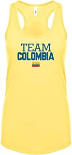 nobrand Colombia Women's Flag National Pride Woman Soccer Team RacerbackTank Top Tee T-Shirt