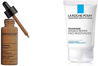 Dermablend Flawless Creator Multi-Use Liquid Foundation, 70W + La Roche-Posay Toleriane Double Repair Face Moisturizer