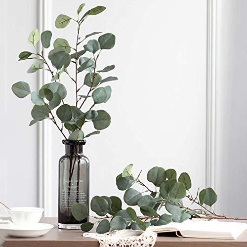 iloving Hoja De Rama De árbol De Eucalipto De Plástico Artificial para Decoración De Boda Arreglo De Flores Jardín Navidad Imitación De Seda Planta Verde