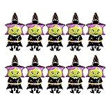 NUOBESTY Globos de Papel de Bruja de Halloween, Globos de Halloween, decoración de Fiesta de Globos de Mylar del día de acción de Gracias, 10 Piezas