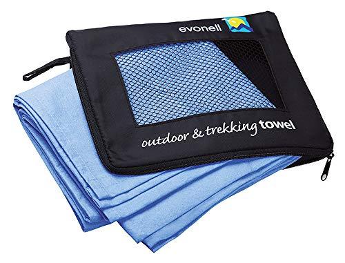 EVONELL 64x140cm Sports Towel Sporthandtuch Microfaser blau