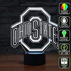 Lucky2Buy NCAA Ohio State University Team Logo Optical Decor Toy Lamp