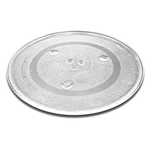 vhbw Glas Mikrowellen-Teller 31.5cm mit Y-Aufnahme passend für Mikrowellen von Bosch, Siemens, AEG, Severin, Panasonic, Samsung, Clatronic, LG, Bomann