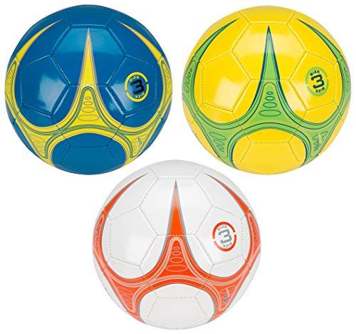 Schreuders Sport Avento Warp Skillz Mini-Fußball, Blau/Gelb/Silber, Größe 3
