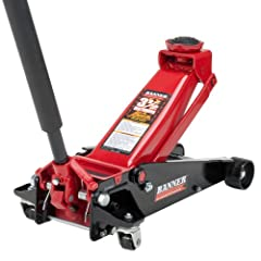 """Built-in internal safety valve and vent plug ensures safe operation Swivel saddle provides easy jack positioning and user safety 3.5-ton/7,000 lb. lift capacity Jack Size: 28 1/2"""" L x 13 3/4"""" W x 6 1/2"""" H Rugged universal joint for precise load contr..."""