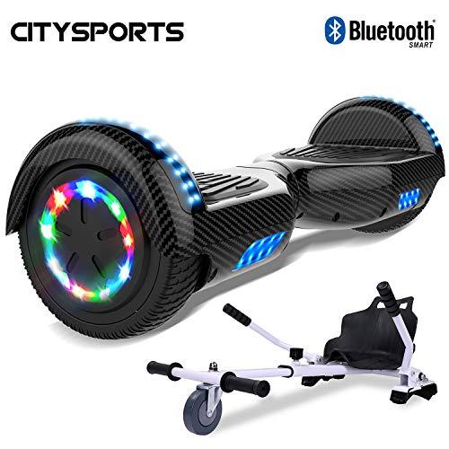 CITYSPORTS Balance Board 6.5 Pouces, Self Balance Scotter Electrique, Roues LED Light, Bluetooth,...