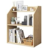 COLiJOL Bücherregal Organizer Büroregal Holz Display Regal Arbeitsplatte Bücherregal Für...