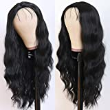 Lovestory Black Color Synthetic None Lace Wig Glueless Heat Resistant Synthetic Silk Base Wigs Loose Wave With Babyhair Natural Hairline