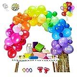 MMTX 100pcs globos de cumpleaños de Diversos Colores, globos fiesta, decoracion para Cumpleaños,...