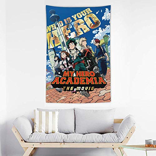 suzzc My Hero Academia Wall Hanging for Living Room Bedroom Dorm Decor
