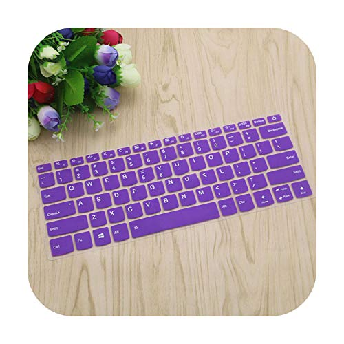 Laptop Keyboard Protective Cover Skin Protector for Lenovo Yoga 720 15 520S 14 Flex 5 14 Flex 5 15 Ideapad 120S 14 Inch-Purple-