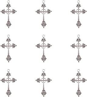 N/ähendes G/ärtnerlein 4 St/ück Metall Anh/änger TQ Keltisches Kreuz Antique Silber
