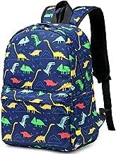 CAMTOP Kids Backpack Preschool Kindergarten Bookbag Toddler School Bags for Boy (Dinosaur-Navy Blue)