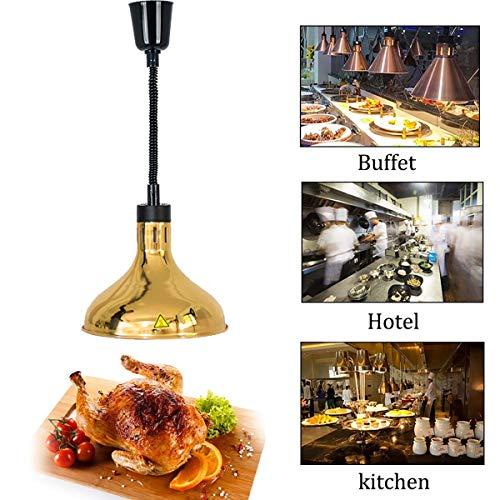 XER 250W Voedselwarmtelamp, Telescopische ophanging Hoofd Kroonluchter, Commerciële Thuis Buffet Isolatie Lamp voor Restaurant Keuken