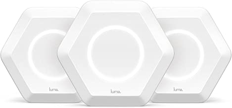 Luma Whole Home WiFi (3 Pack - White) - Replaces WiFi Extenders and Routers, Compatible with Alexa, Free Virus Blocking, Free Parental Controls, Gigabit Speed (Renewed)