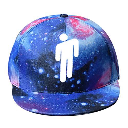 Haptian Baseballkappe, Frauen Männer Teens Hip Hop Mädchen Rapper 3D Digitaldruck Baseball Cap Bunter Sternenhimmel Streetwear Einstellbare Snapback Trucker Hat 2#
