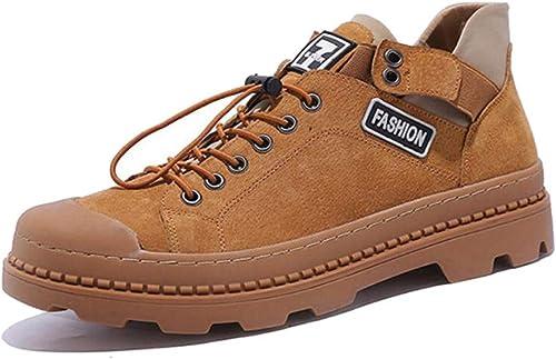 DANDANJIE Hommes Occasionnels Martin Bottes De Sports D'extérieur Bottes De Style Britannique Chaussures