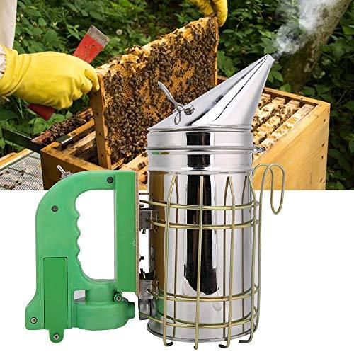 Nikou Kit de transmisor de Humo eléctrico de Abeja - Fumador eléctrico de Colmena de Abeja para Apicultor Herramienta de Apicultura eléctrica de Acero Inoxidable