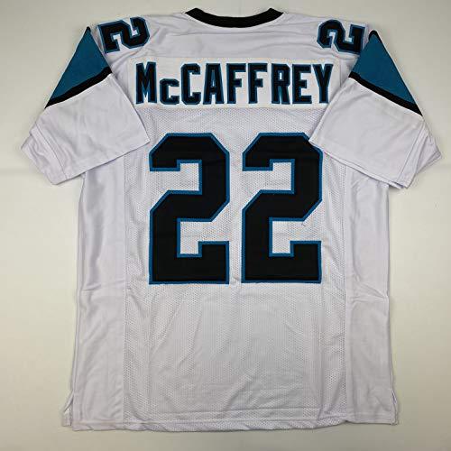 Unsigned Christian McCaffrey Carolina White Custom Stitched Football Jersey Size Men's XL New No Brands/Logos