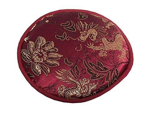 Pad für Klangschalen mit diversen traditionellen Mustern Ø 10 cm in verschiedenen Farben erhältlich (violett)