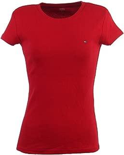 Womens Crewneck Solid Color Logo T-Shirt