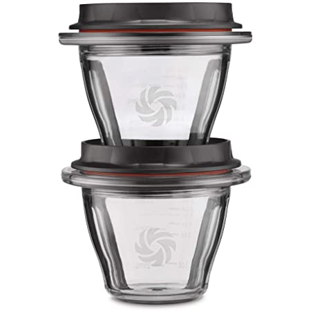Vitamix Ascent Series Blending Bowls, Two 8 oz. with SELF-DETECT, Clear - 66192