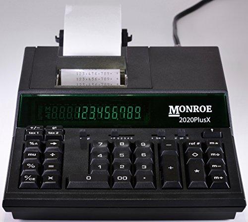 (1) Monroe 2020PlusX 12-Digit Medium-Duty Color Printing Calculator in Black