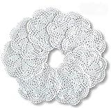 8pcs Crochet redondo algodón encaje mesa esteras hechas a mano cocina Doilies Crochet 7 pulgadas...