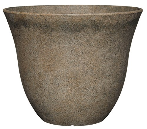 Classic Home and Garden Patio Pot Honeysuckle Planter, 15 Inch, Fossil
