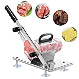 bone slicer machine - Manual Frozen Meat Slicer, Stainless Steel Meat Cutter Beef Mutton Roll Meat Cheese Food Slicer Vegetable Sheet Slicing Machine, Deli Slicer for Home Kitchen