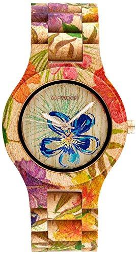 WeWOOD Reloj Madera/Madera Antea Flores Beige 9818171Ladies