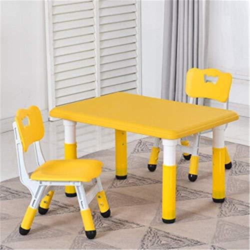 Decoración de muebles Juego de escritorio y silla para niños Juego de mesa y silla de jardín de infantes Mesa de trabajo para escribir Mesa de estudio Mesa de juego de plástico Mesa de dibujo para