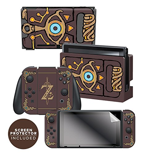 Controller Gear Nintendo Switch Skin & Screen Protector Set Officially Licensed By Nintendo - The Legend of Zelda: Breath of the Wild: 'Sheikah Slate' - Nintendo Switch