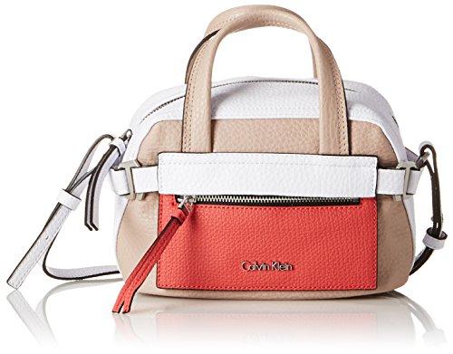 Calvin Klein Damen Tasche Cecile Mini Satchel 1 Pack, mehrfarbig (beach/white/red stripe), größe OS