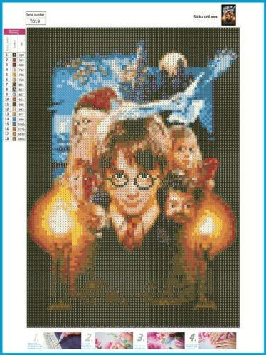 Película de dibujos animados Disney Full Drill 5D Diamond Kits de pintura Bordado Punto de cruz Harry Potter y el filósofo 30 * 40CM